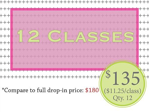 12 classes