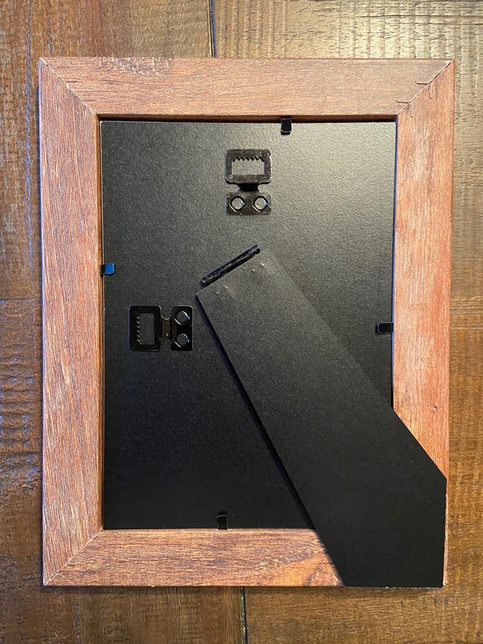 Back of frame