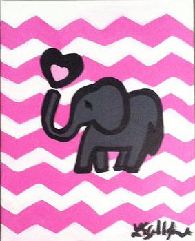 Nursery Pink Elephant
