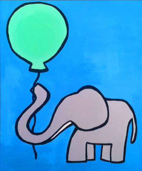 Nursery Elephant Ballon