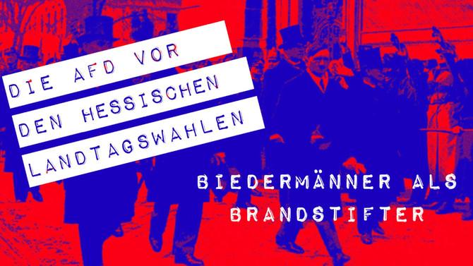 Biedermänner als Brandstifter- Die AfD vor der hessischen Landtagswahl