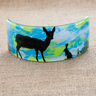 Curved Deer and Hare Picture