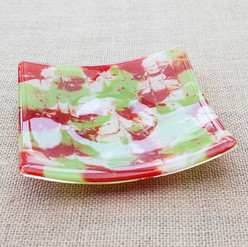 Red, Green and White Plate