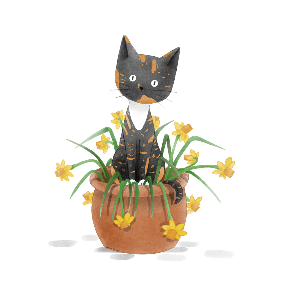 Shelly in Daffodils