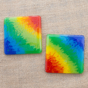 Marbled Rainbow Coasters