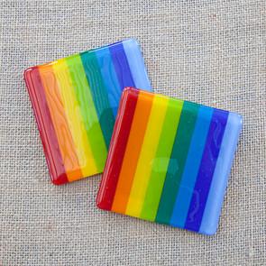 Striped Rainbow Coasters