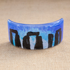 Curved Stonehenge Picture (blue)