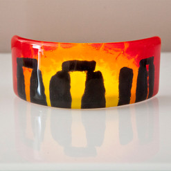 Curved Stonehenge Picture (red)