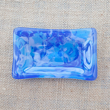 Marbled Blue Soap Dish