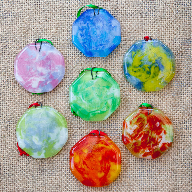 Marbled Xmas Decorations