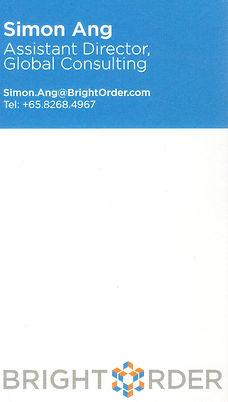 Simon Ang - BrightOrder Asst Dir - Name