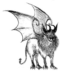 Winged Bat Creature