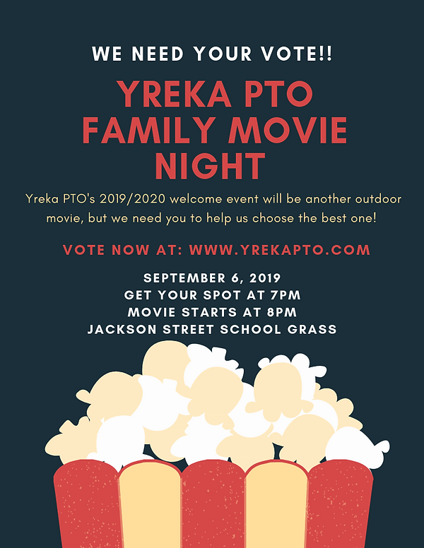 WE Need your vote!! 2019_2020 movie nigh