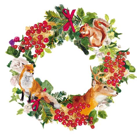 靴下屋 / クリスマスキャンペーンイラスト