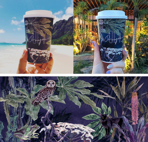 ONIJUS COFFEE VILLAGE / 紙カップデザイン