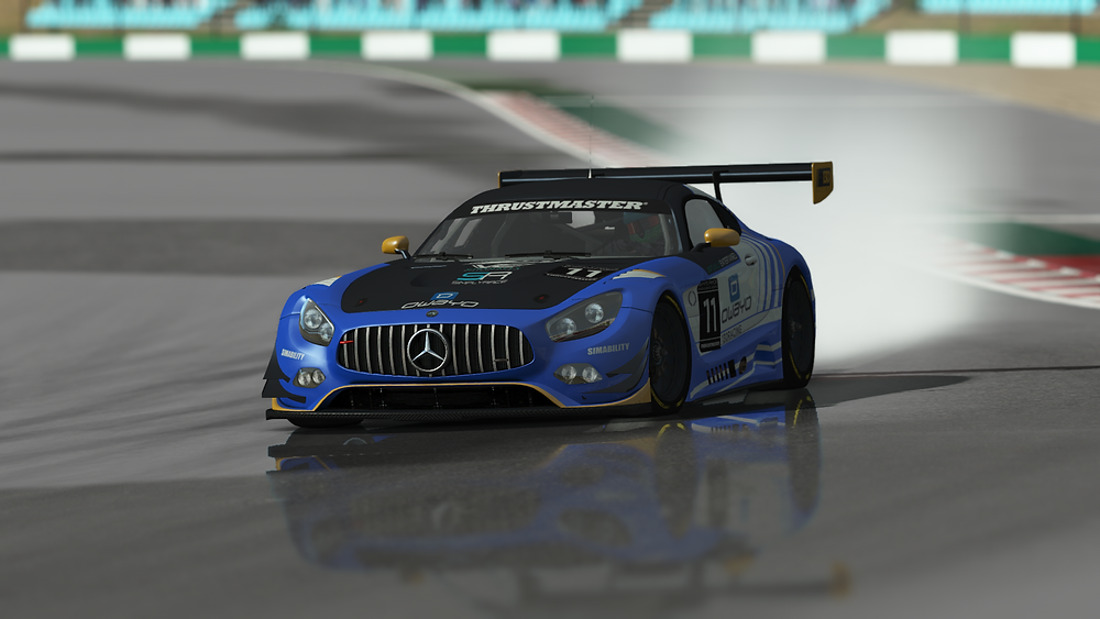 In game graphics - Outside shot of Mercedes AMG GT GT3