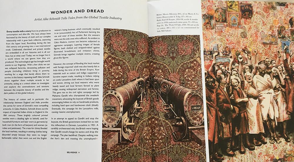 Selvedge Magazine issue 86, page 14: Wonder & Dread
