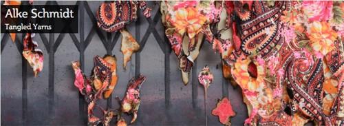 Alke Schmidt, Aftermath, textiles & acrylic on canvas (detail)