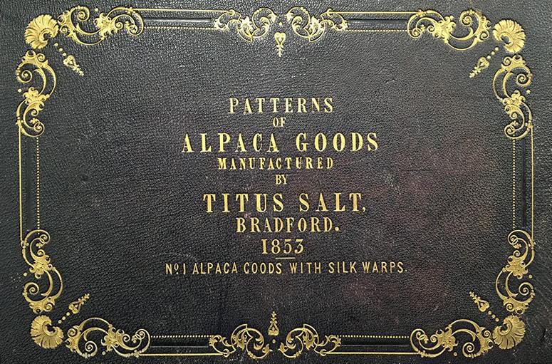 Sample book, alpaca/silk goods, Titus Salt, 1853, Bradford Industrial Museum