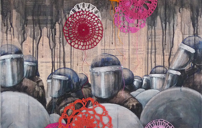 The Art of Conflict: Group exhibition by UK and international artists responding to the idea of conf