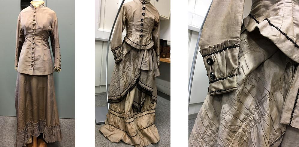 Alpaca travel costumes, after 1875, Bradford Industrial Museum