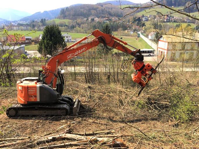 Präzises Navigieren der gefällten Baumteile