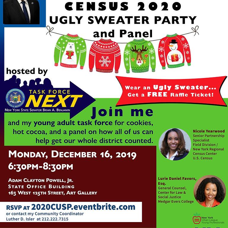 Senator Brian Benjamin 2020 Census Ugly Sweater Party
