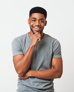 Interested-smiling-african-american-man-