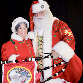 Mrs. C Tolerates Santa When He Plays His Original Social Distancing Device