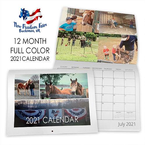 2021 New Freedom Farm Calendar