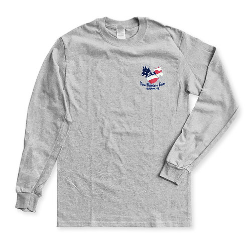New Freedom Farm Long Sleeve T-shirt - Gray