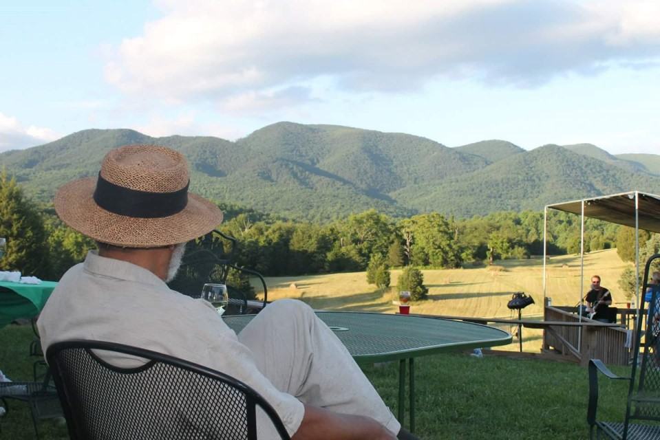 Blue Ridge Vineyard relaxing view