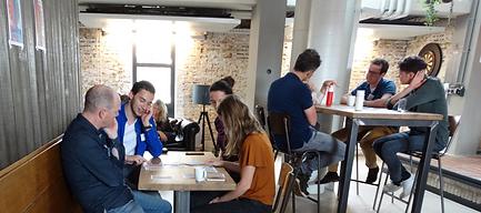 Training met de In de Hoofdrol teamrollen bij jong innovatief bedrijf
