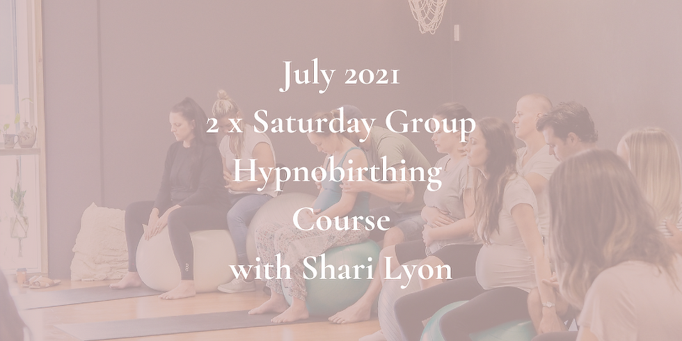 July Saturday Gold Coast Group Hypnobirthing Course 2021