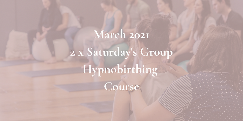 March Saturday Gold Coast Group Hypnobirthing Course 2021
