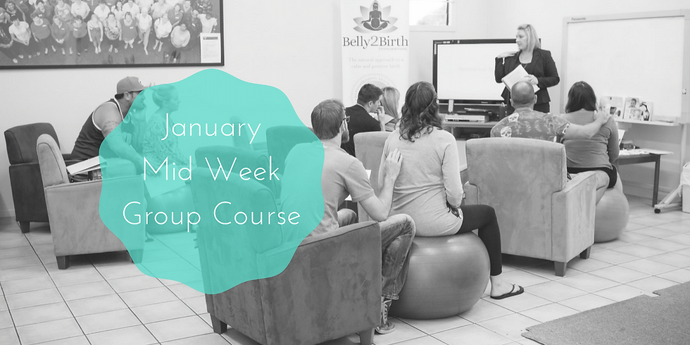 January Midweek - Gold Coast Group Hypnobirthing Course
