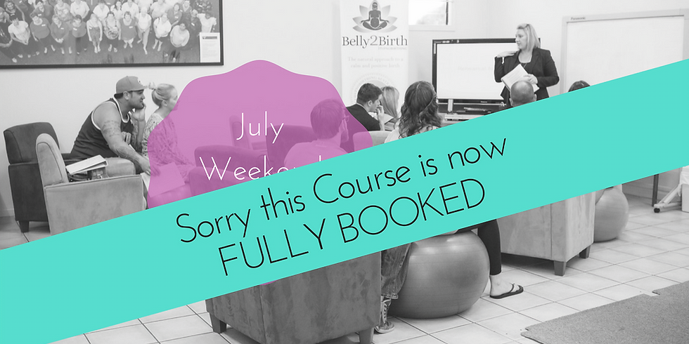 FULLY BOOKED - July Weekend Gold Coast Group Hypnobirthing Course