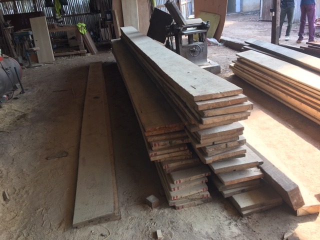 piled up wood planks
