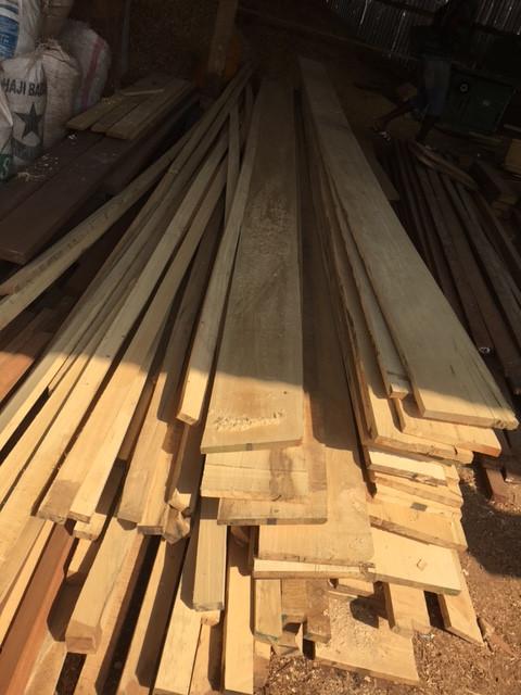 wood planks piled