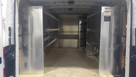 Aluminum Shelving in Nissan NV