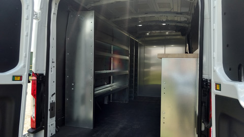 """96"""" Long Steel Shelf Unit, 4 Levels High"""