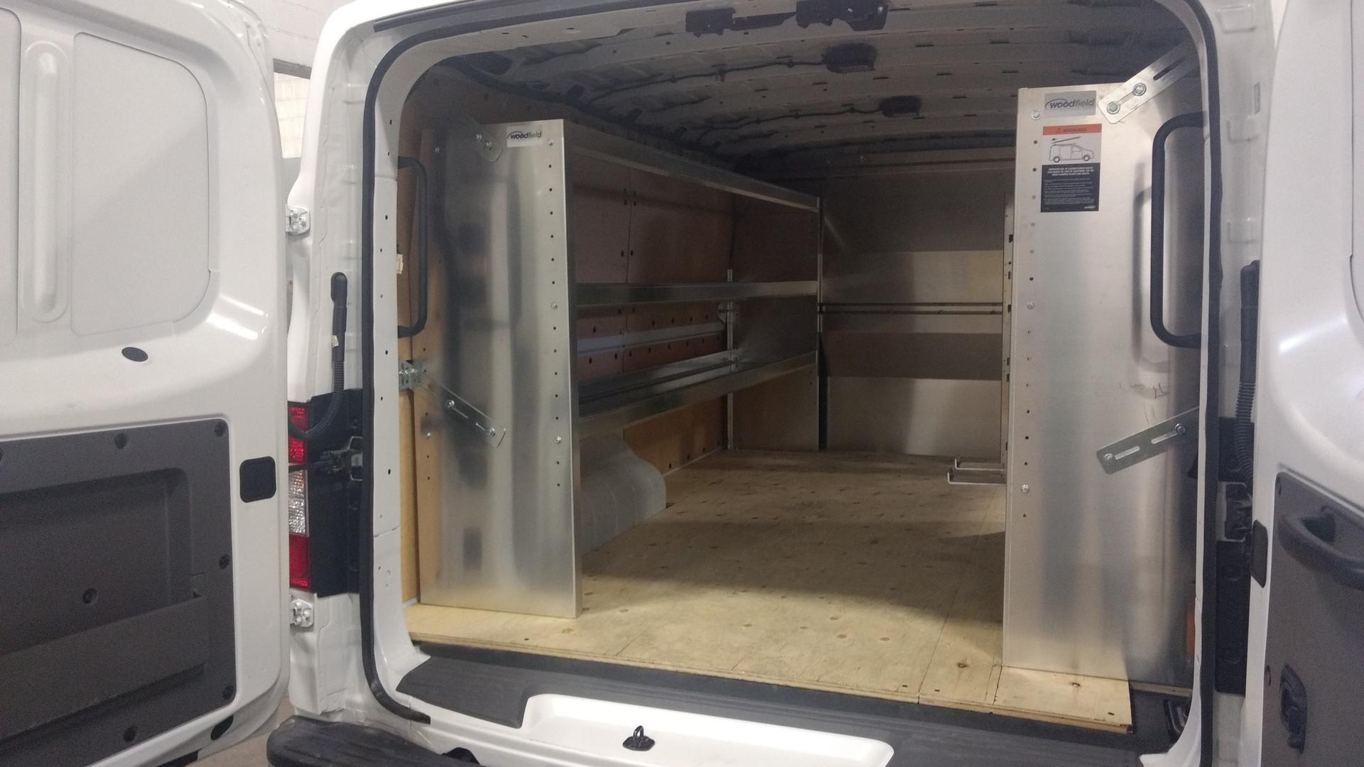Aluminum Shelf Unit in Nissan NV