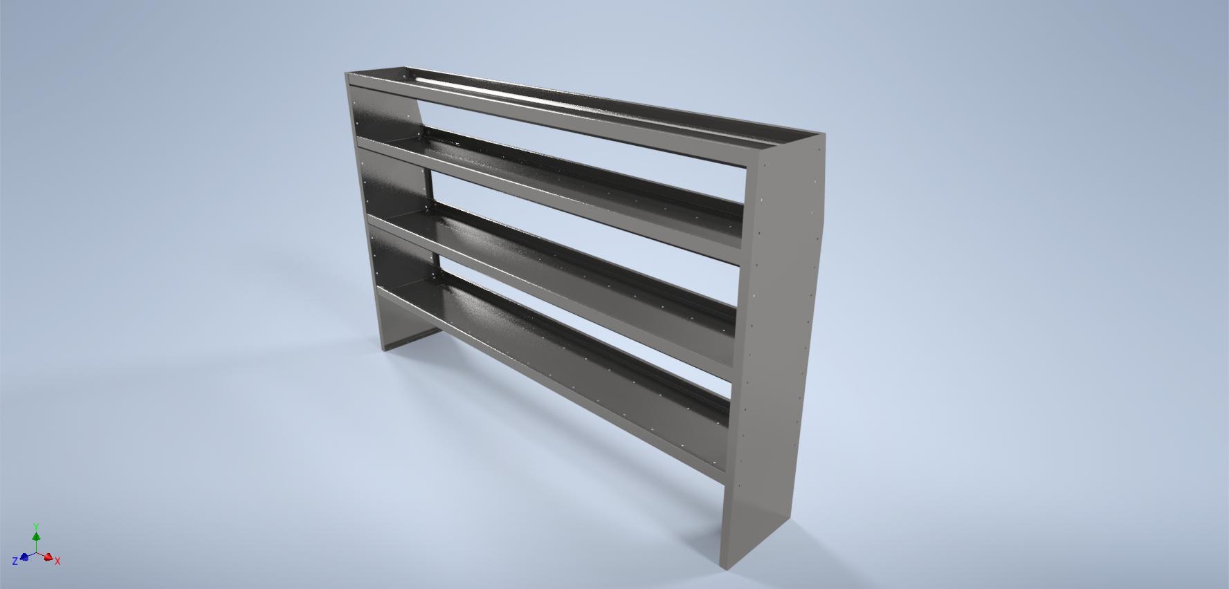 """96"""" Long Aluminum Shelf"""