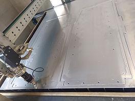 Custom Van Shelving being made using CNC machines