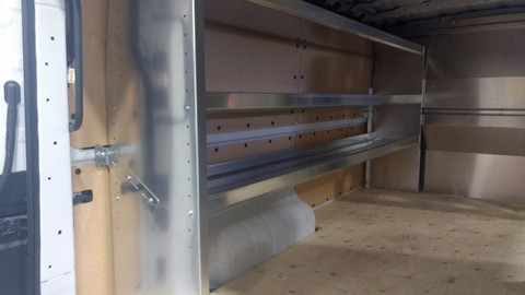 "96"" Long Aluminum Shelf Unit"