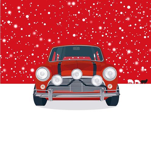 RED SKY AT NIGHT – SINGLE CHRISTMAS CARD