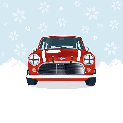 RUSHING THROUGH THE SNOW – SINGLE CHRISTMAS CARD