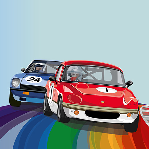 70s Road Sports Rainbow