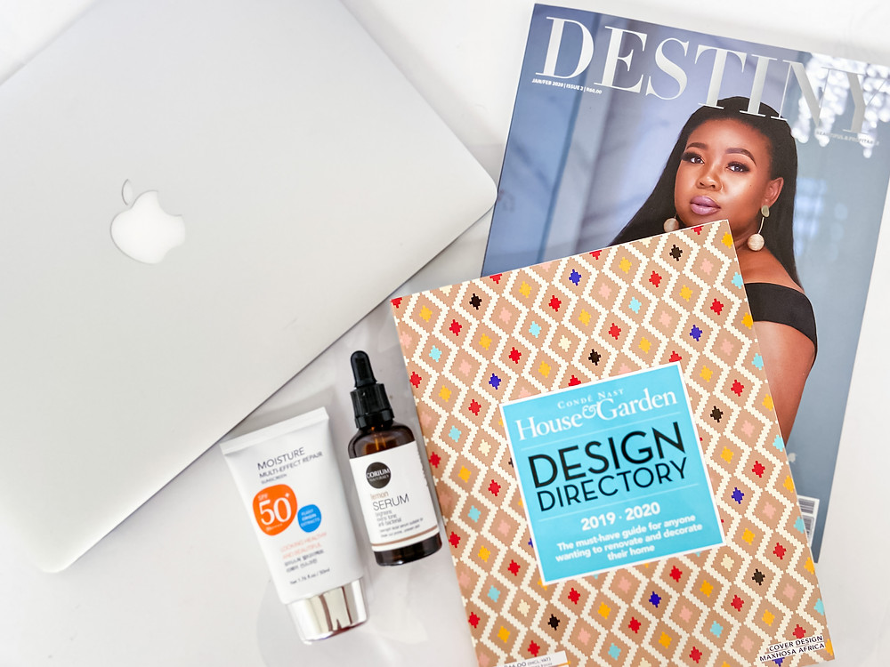 The beautiful Precious on the cover of destiny was a fitting feature for my flat lay; Corium Lemonier Serum & Miniso Sunscreen