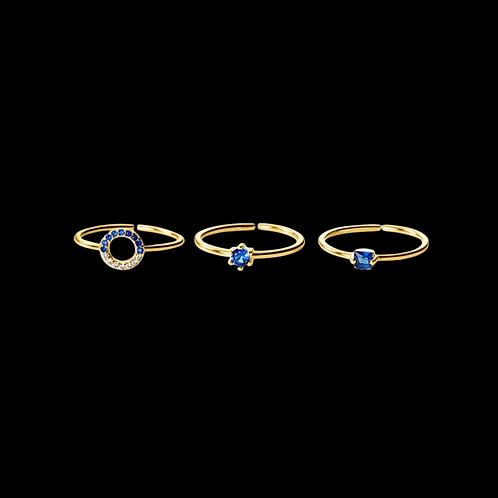 Bleue Ring Set